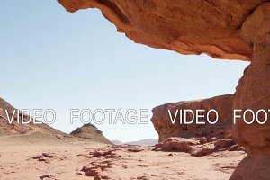 desert landscape in Timna Park, Israel. smooth camera movement
