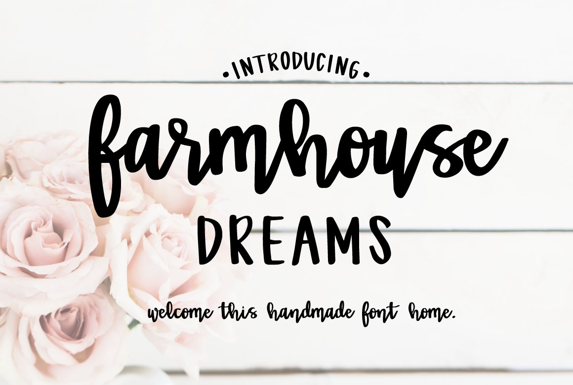 Farmhouse Dreams Script Fonts Creative Market