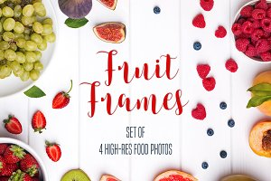 Fruit frames photo set