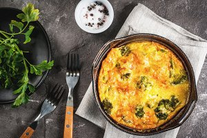Frittata with broccoli