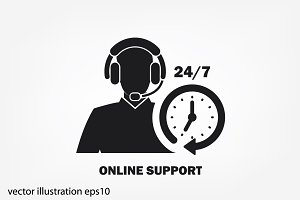Customer support help desk icon