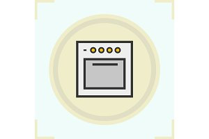 Stove color icon