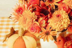 Autumn decor on table