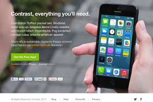 Contrast – Clean iPhone Landing Page