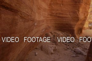 desert canyon landscape in Timna Park, Israel. smooth camera movement