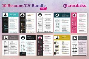 Resume/CV Bundle - Vol.1