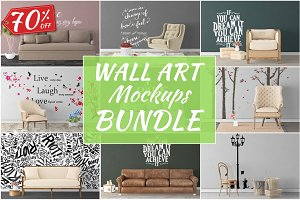 Wall Art Mockups BUNDLE V34