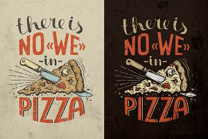 Pizza lettering poster