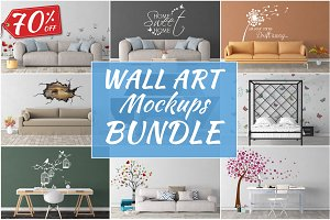 Wall Art Mockups BUNDLE V37