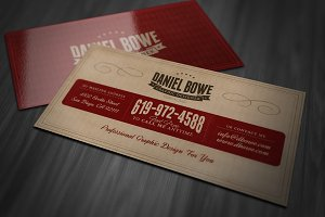 Vintage or Retro Business Card