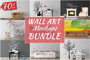 Wall Art Mockups BUNDLE V35