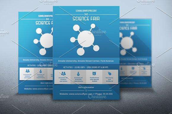 Flyer Science Fair Flyer Templates Creative Market