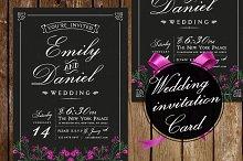 Black/White Wedding Invitation