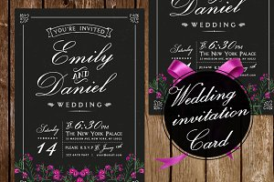 Black/White Wedding Invitation