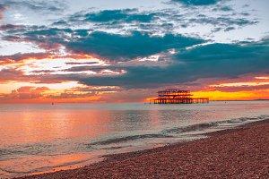 Sunset in Brighton
