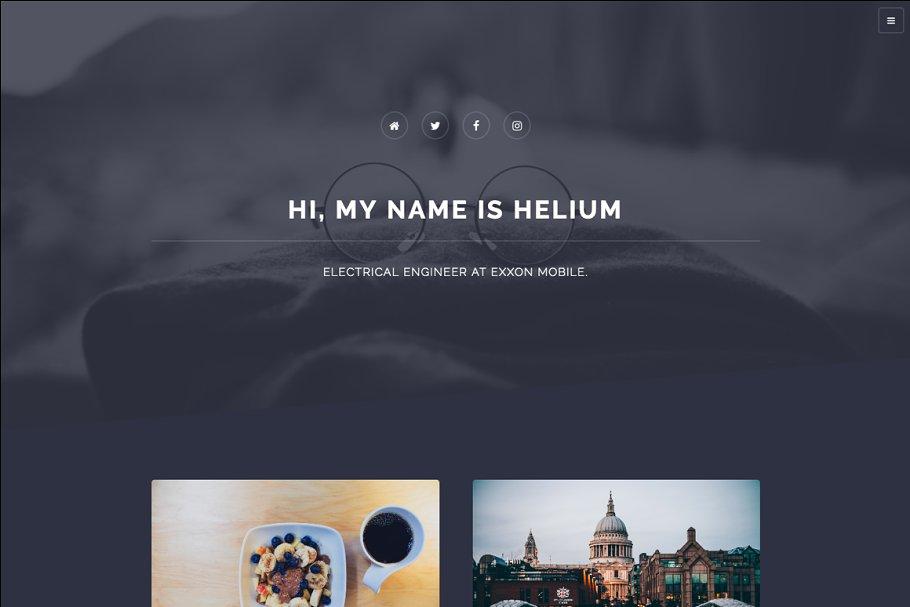 Helium Blog Ghost Theme