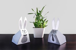 DIY Easter Bunny  - 3d papercrafts