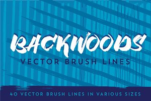 Backwoods Vector Brush Lines