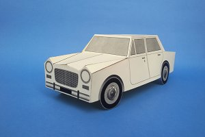 DIY Vintage car - 3d papercrafts