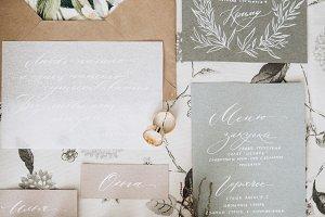 Wedding calligraphy and decor
