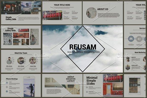 Reusam Multipurpose Powerpo-Graphicriver中文最全的素材分享平台