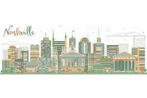 Abstract Nashville Skyline