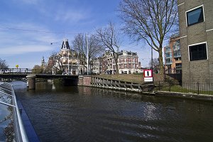 Tour through channel in Amsterdam