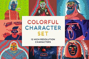 Colorful Character Set