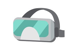 VR Glasses or Virtual Reality Helmet Isolated