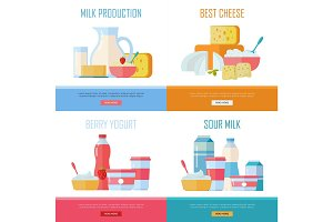 Milk Production, Cheese, Berry Yogurt, Sour Cream