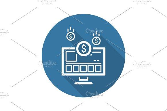 Income Store Icon. Business Concept.