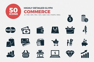 Glyph Icons Commerce Set