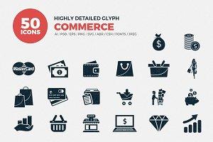 Glyph Icons Commerce Set