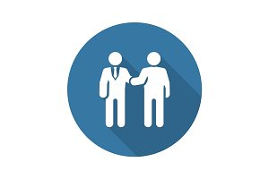 Handshake Icon. Business Concept.