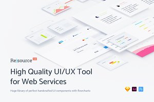 Resource, UI/UX Tool for Web Service