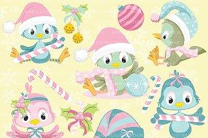 Christmas Birds Shabby Chic AMB-568