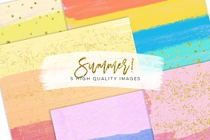 Summer watercolor paper - rainbow