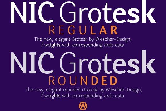 NIC Fonts