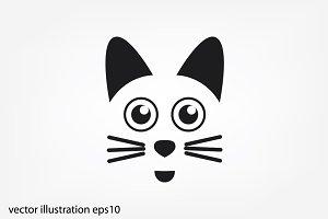 Cat vector icon