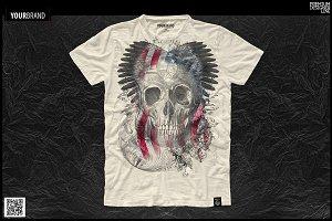 T-Shirt Graphic / Gothic & Skull