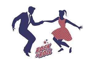 Young couple dancing Rock & Roll - I