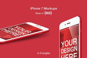 iPhone 7 RED Mockups