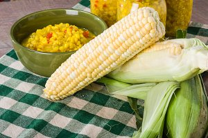 Sweet corn and relish