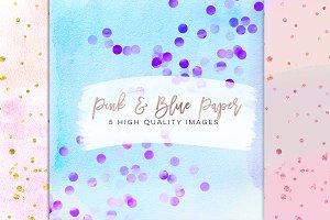 Watercolor confetti paper