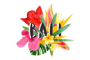 """Floral collage """" Bali"""""""