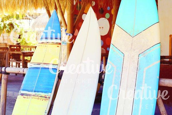 surfboard on the beach