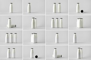 Milk Bottle Mock-Up Photo Bundle