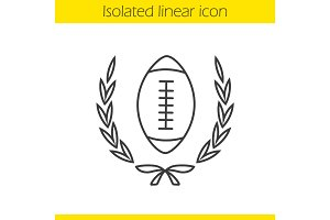 American football championship linear icon