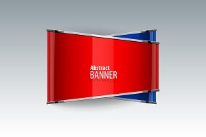 Shiny gloss red and blue banner