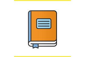 Diary notebook color icon